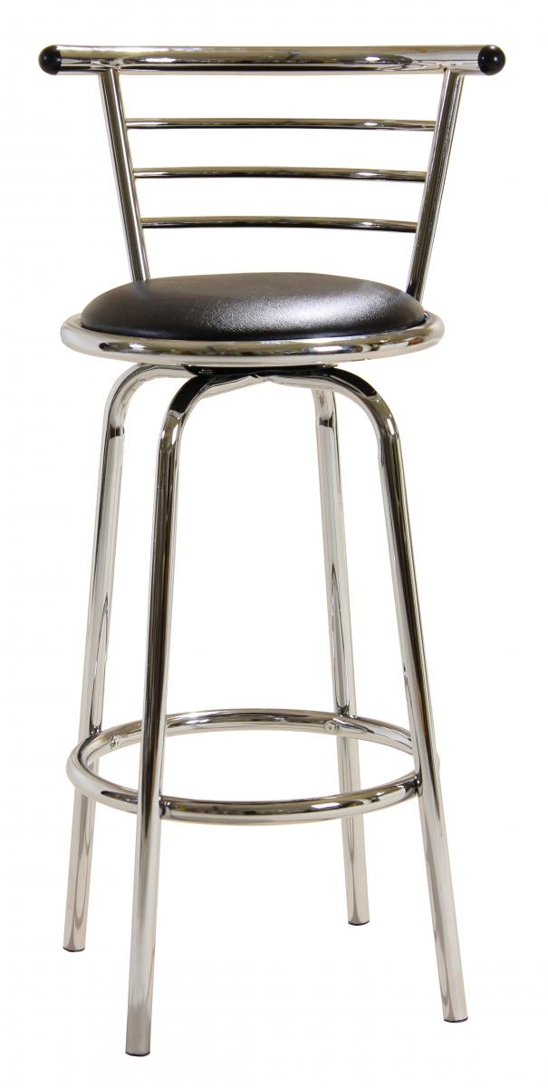 Bar Stool Chrome Swivel Wide Back BM-020P