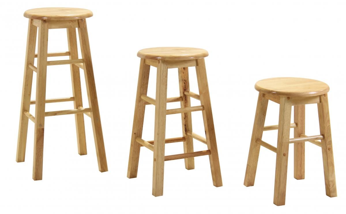 Bar Stool 18 Natural (Sold in Pairs)