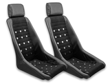 Legend KPGC13 Retro Classic Vintage Racing Bucket Seats | (Microsuede / PVC) - Pair