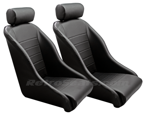 67911R Retro Classic Bucket Seats Pair