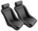 Retro Classic Vintage Bucket Seats with Faux Leather