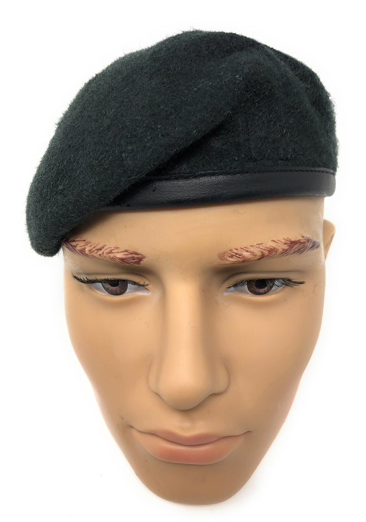 Rifle Green Silk Lined Small Crown Beret