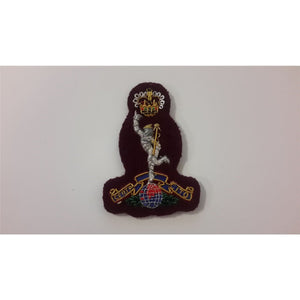 Beret Badge B/W Officers Royal Sig - Maroon