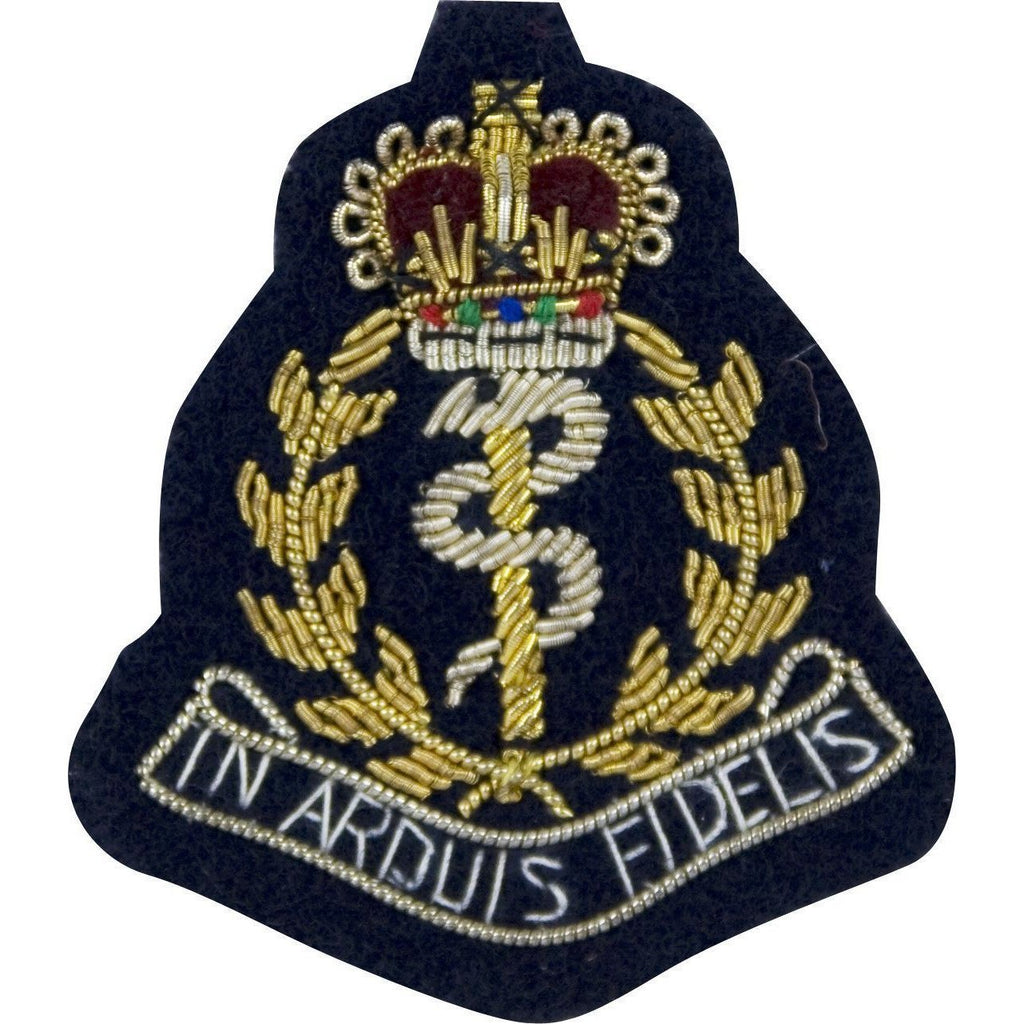 Beret Badge - RAMC Officers - Bullion Wire on Navy [product_type] Ammo & Company - Military Direct