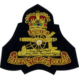 Beret Badge - Royal Artillery Officer - B/W on Black Backing [product_type] Ammo & Company - Military Direct