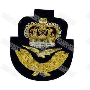 Royal Air Force Officers' Embroidered Cap Badge Embroidered Beret & Cap Badges Ammo & Company - Military Direct