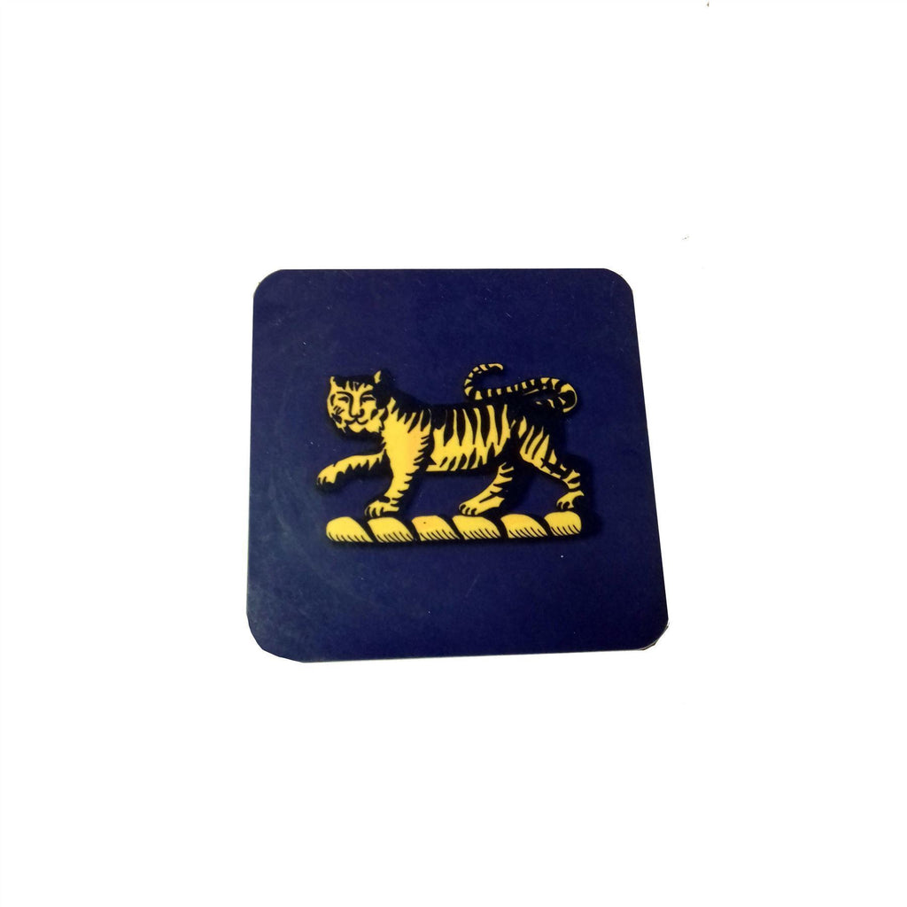 PWRR Coaster with Tiger 10cm x 10cm With Braize Backing [product_type] Military Covers - Military Direct
