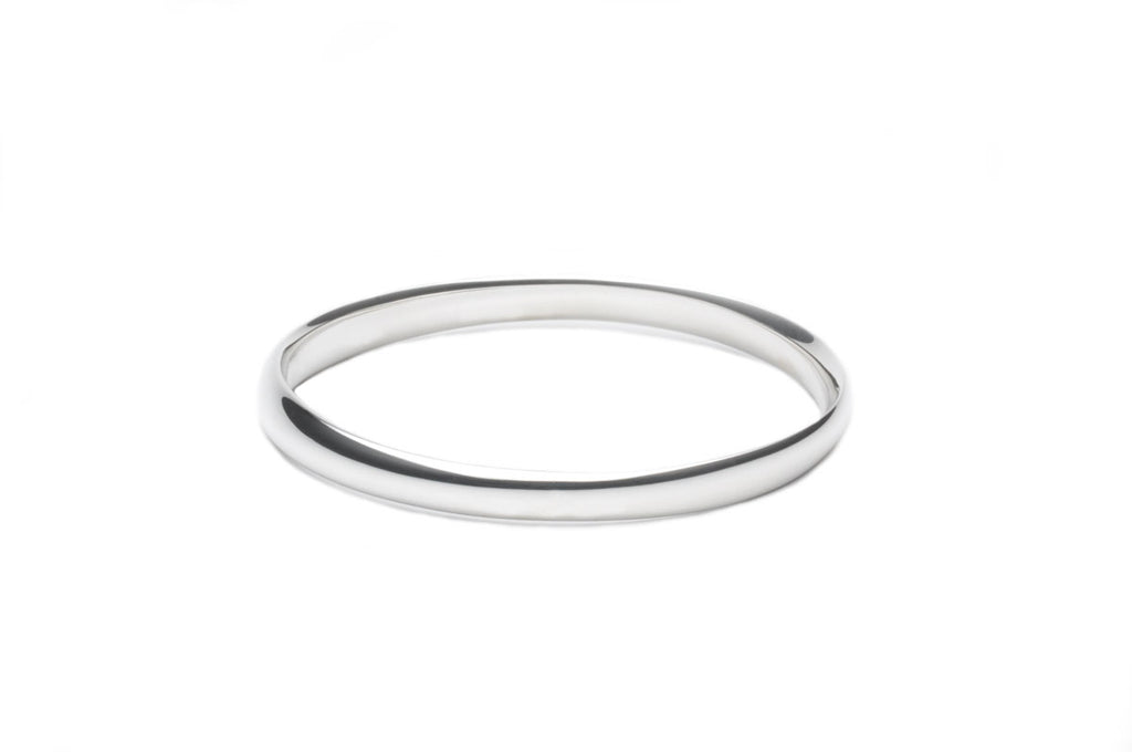 Bangle or Cuff-Bracelet with an elliptical shape in satin matte or polished sterling silver, width 8mm $610.00