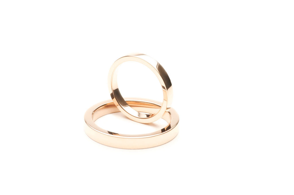 Commissioned 18 karat Rose Gold wedding bands $0.00
