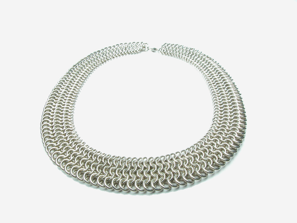 Hand made sterling silver mesh necklace. $1,900.00
