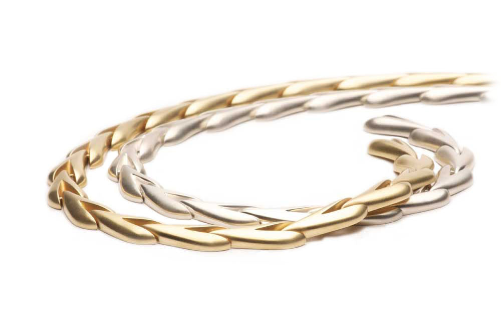 Sterling silver  (shown with the eighteen karat gold version) $1,570.00