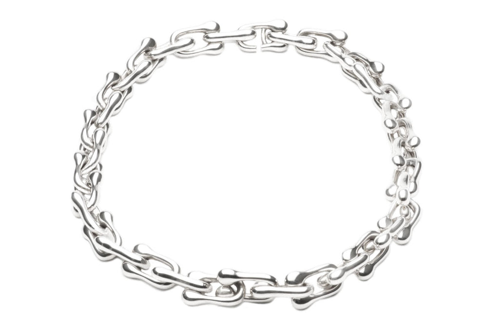 Sterling Silver necklace with integrated clasp. $2,550.00