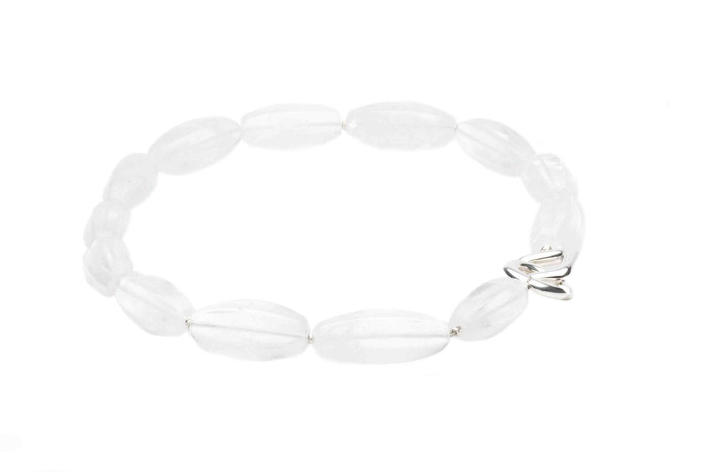 Natural Rock-Crystal and Sterling Silver, Puzzle Clasp $890.00
