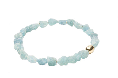 Necklace Aquamarine Nuggets