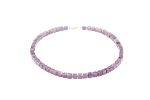 Necklace Amethyst cubes