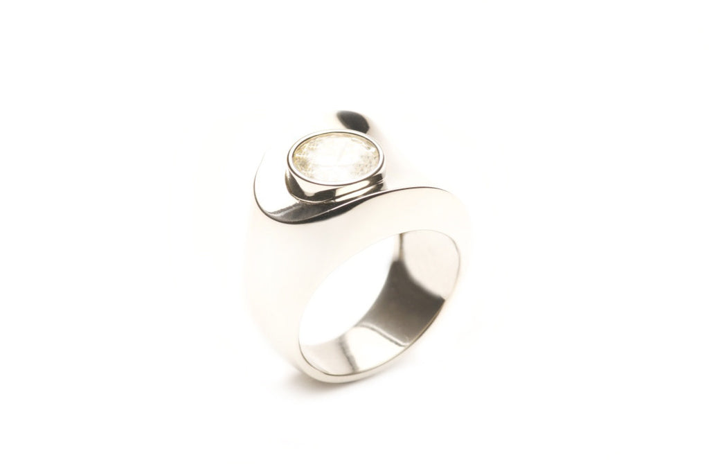 2.5 carat Diamond set in the Espresso ring, eighteen karat white gold. Custom work. $0.00