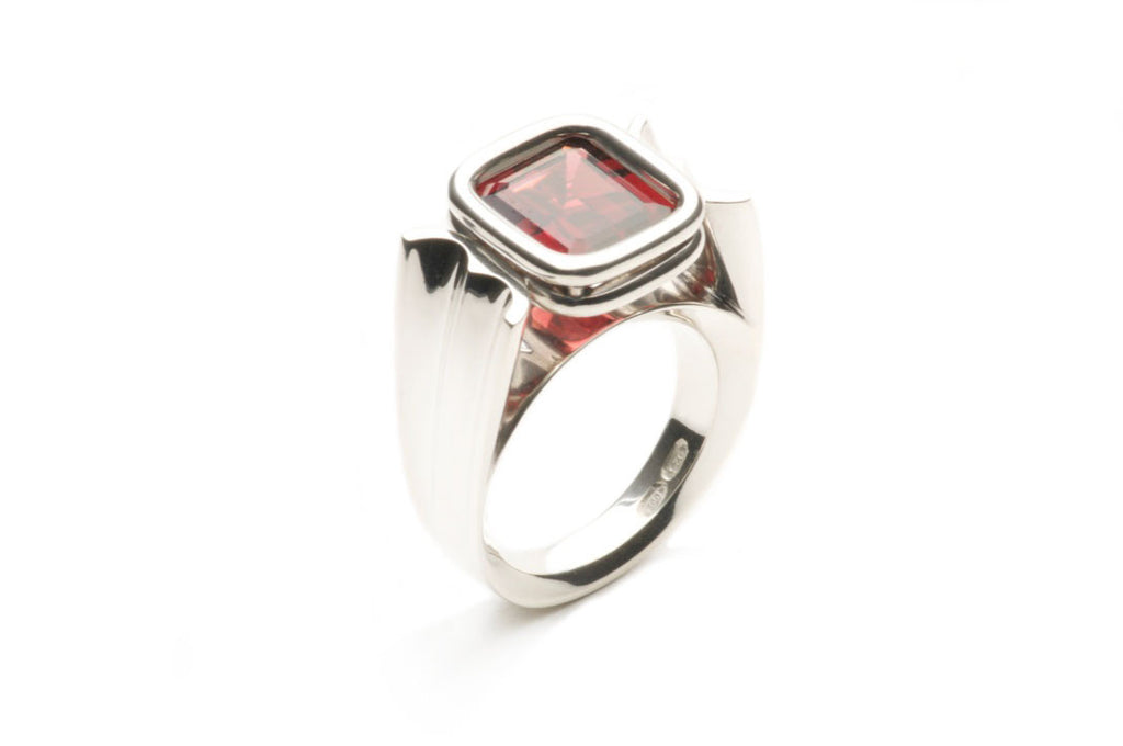 Sterling silver, emerald cut Garnet R060 modified $1,280.00