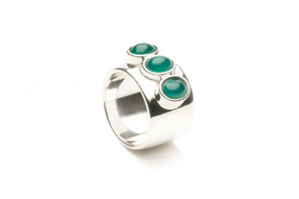 Sterling silver, Green Onyx $890.00