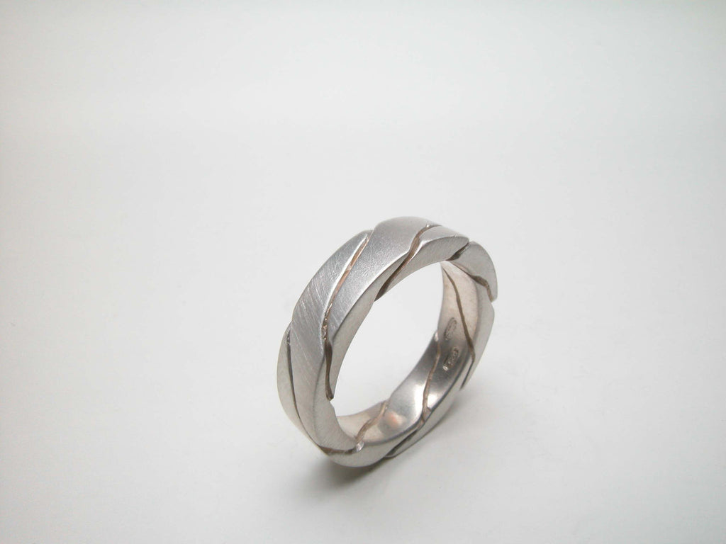 Sterling silver band. Also shown with Ring R122 SHIFT (right) $370.00