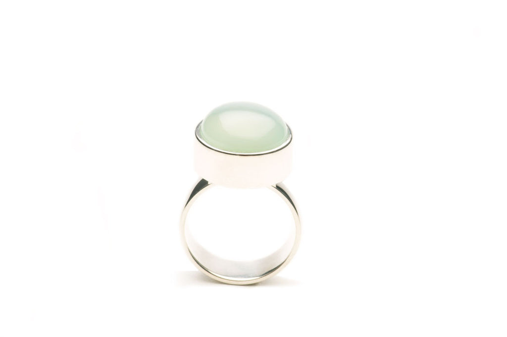 Sterling silver, Chalcedony round. $590.00