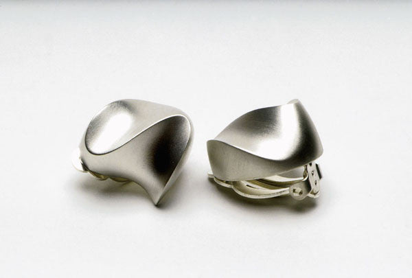 Earrings in matte or polished sterling silver. $430.00