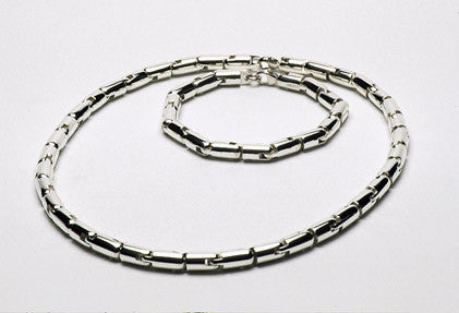 Sterling silver link necklace. $1,580.00