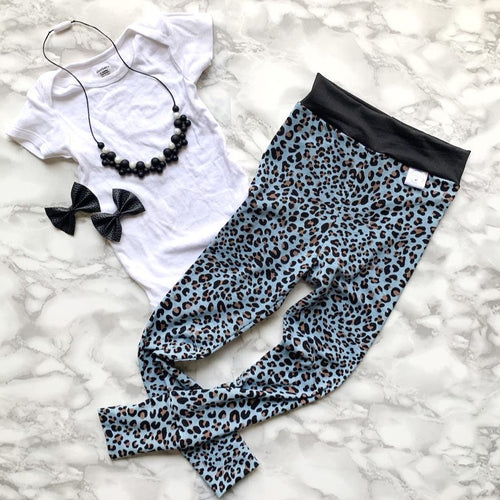 Blue Cheetah Leggings