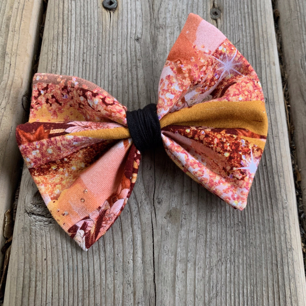 Fall Time Sparkle Bow