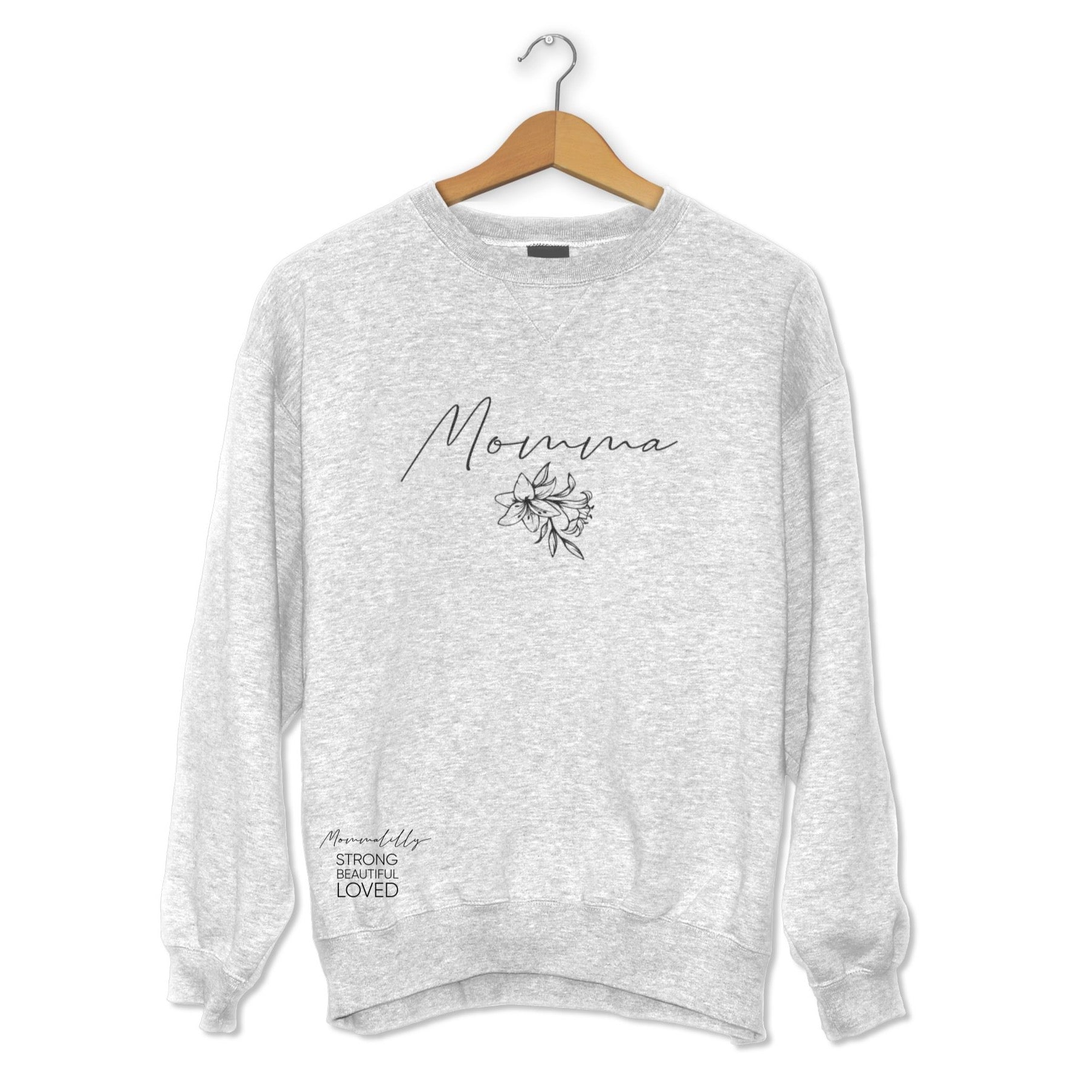 Mommalilly Crew Long Sleeve Momma Sweater