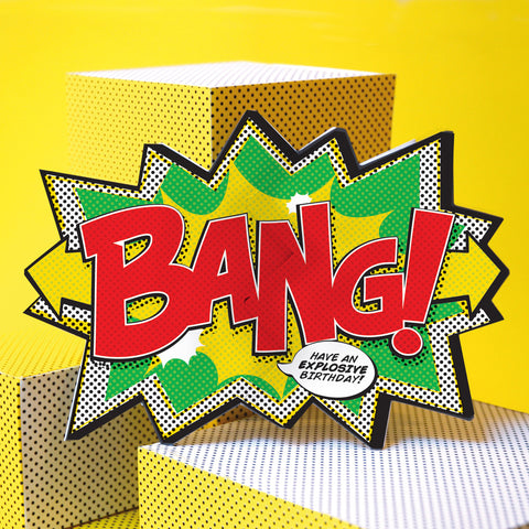 'Bang!' Comic Cracker Card