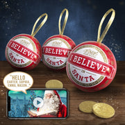 Christmas Baubles Set of 3 with Chocolate Coins
