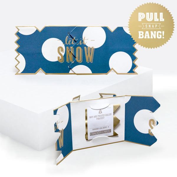 Bold And Bright Snow Spot Christmas Cracker Card