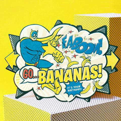 Bananaman Beano Surprise Comic Cracker Card