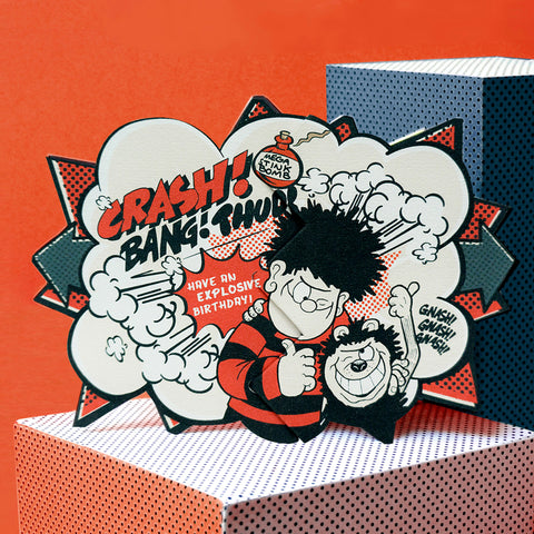 Dennis Blast Beano Surprise Comic Cracker Card
