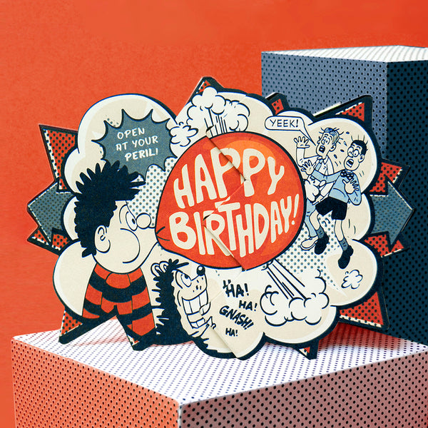 Dennis Bubblegum Beano Surprise Card