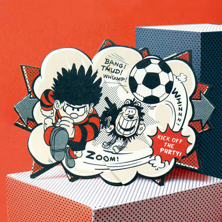 'Dennis Football' Beano Surprise Card