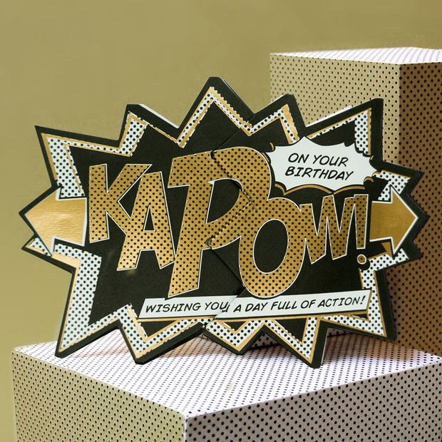 Luxury Edition Gold 'Kapow' Action Card