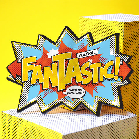 'Fantastic!' Comic Cracker Card