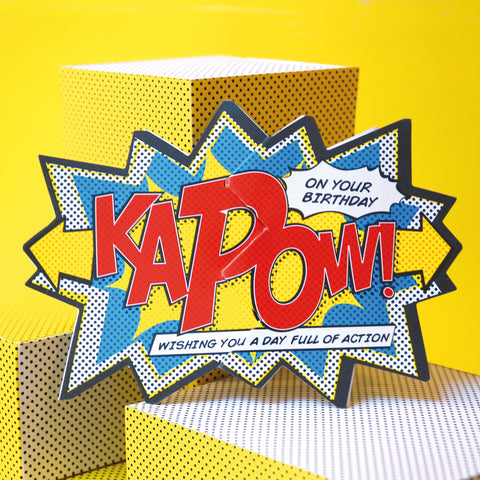 'Kapow!' Comic Cracker Card