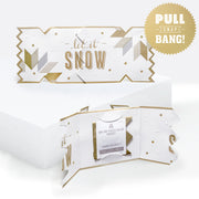 'Luxe Snowflake' Cracker Card