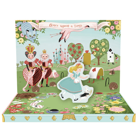 Adventures In Wonderland Music Box Card