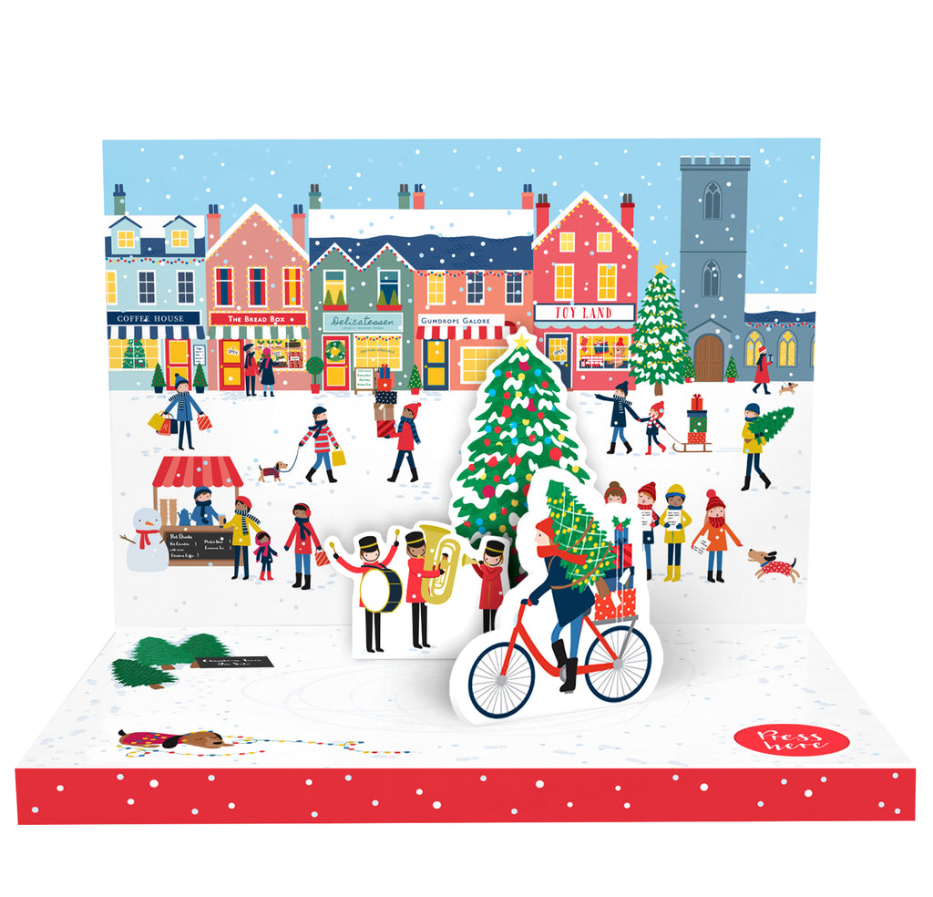 Christmas Town Music Box Card