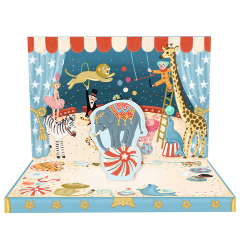 Circus Adventure Music Box Card