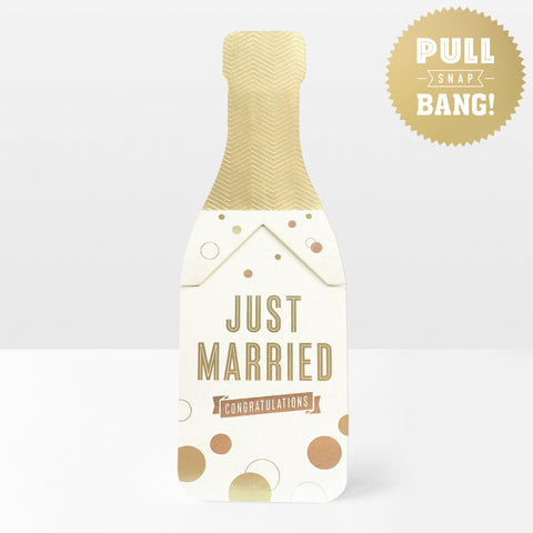 Just Married Pop Cracker Card