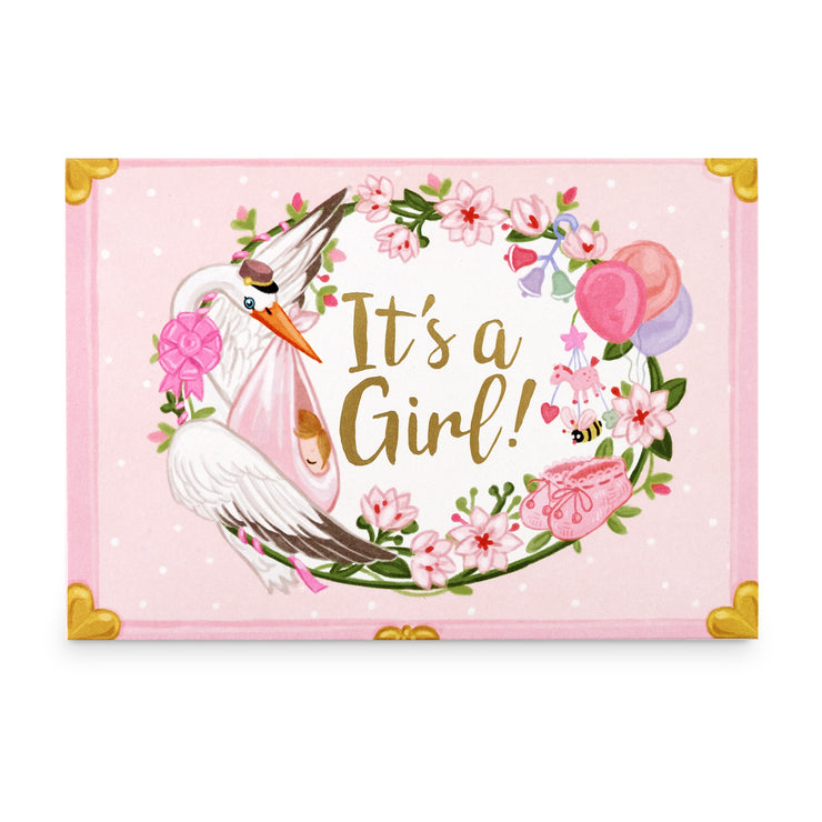 'It's A Girl' Music Box Card