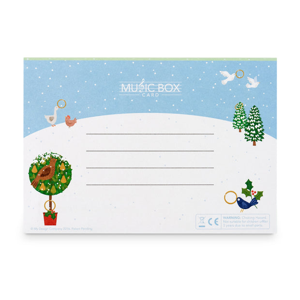 The 12 Days of Christmas Music Box Card
