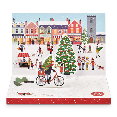 'Christmas Town' Music Box Card