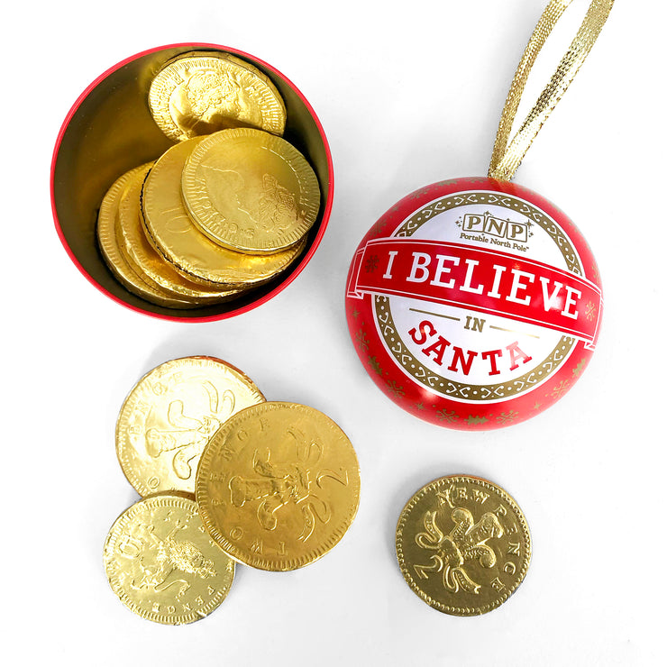 PNP Chocolate Coin Bauble