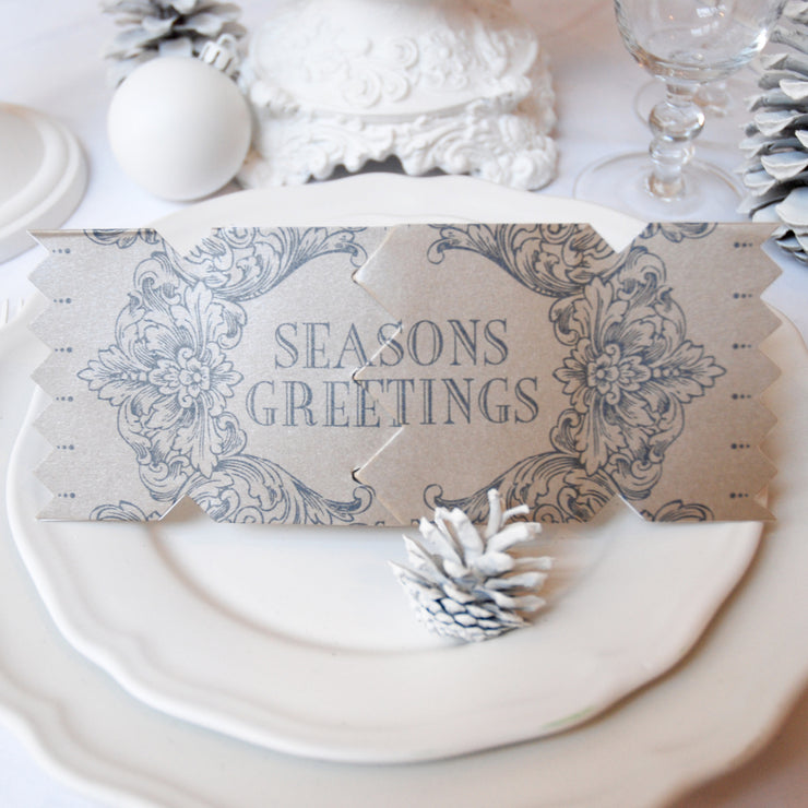 'Season's Greetings-Black' Cracker Card