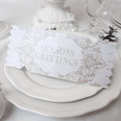 'Season's Greetings-Gold' Cracker Card